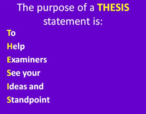 Define what a thesis is